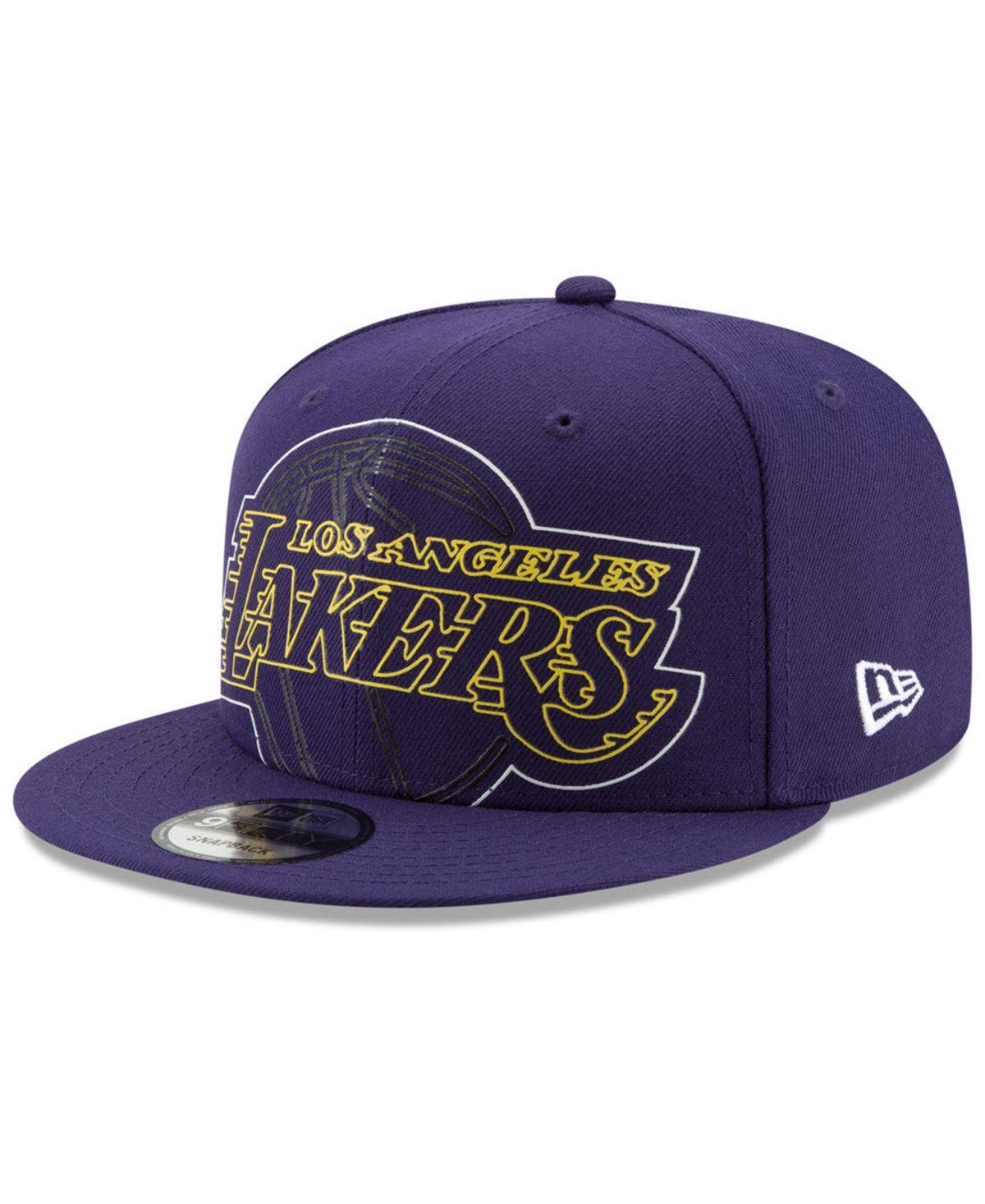 New Era Los Angeles Lakers Light It Up 9fifty Snapback Cap Purple New Era Los Angeles Lakers Snapback Cap