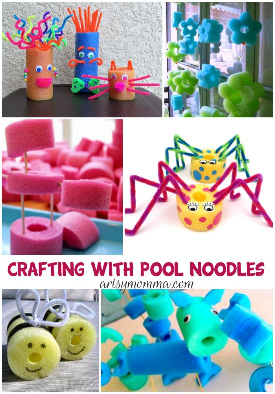 Creative Pool Noodle Crafts for Kids Pool noodles Creative kids