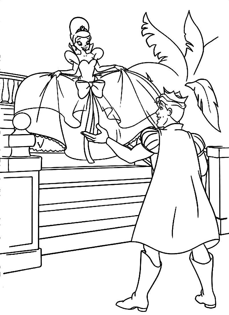 Tiana and Naveen Coloring Pages Naveen As The Main