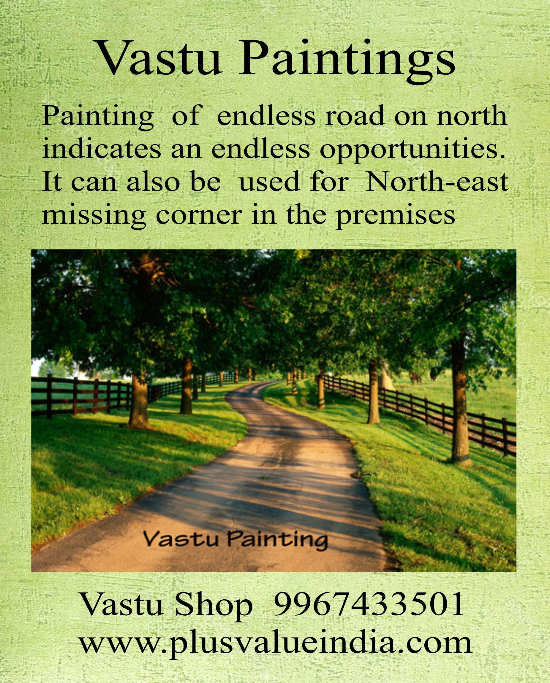 Endless Road Path Painting Vastu Fengshui Northeast Missing