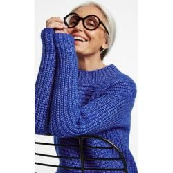 Photo of Coarse knitted sweater blue Gerry Weber
