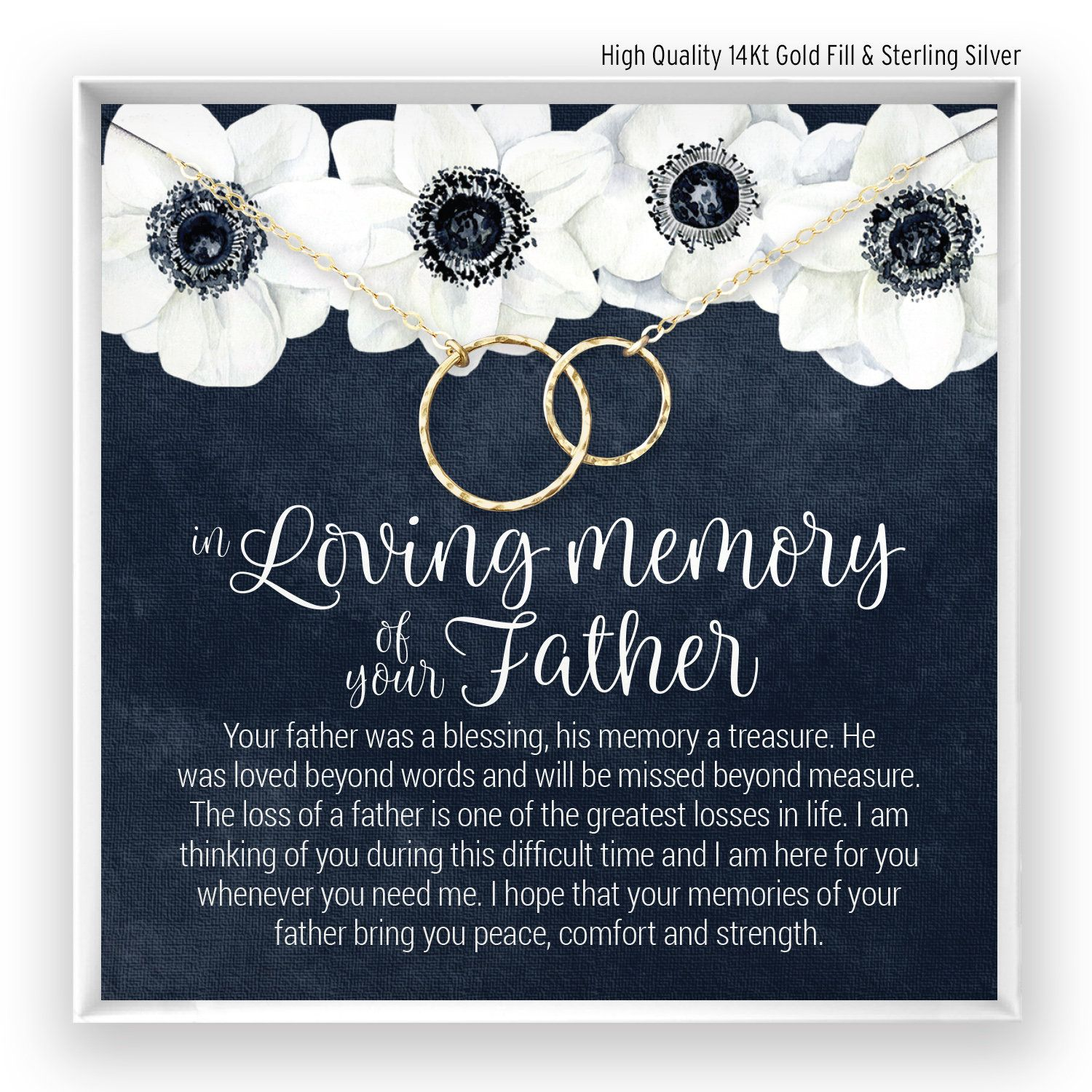 Loss of father gift grief gift sympathy gift father