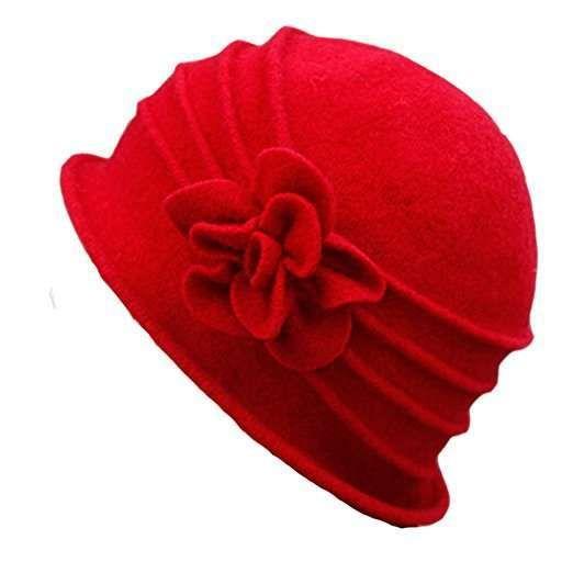 Cappello cloche da donna rosso  4dab57cce409