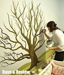 Tree mural for pictures of ancestors.