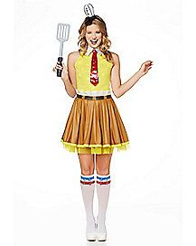 Teen /& Ladies Spongebob Squarepants Fancy Dress Costume Party Outfit TV MOVIE
