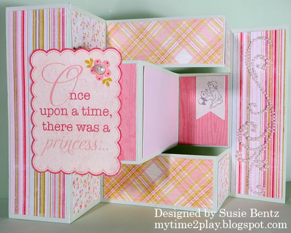 My Time To Play Authentique Cuddle TriFold Card By Susie Bentz