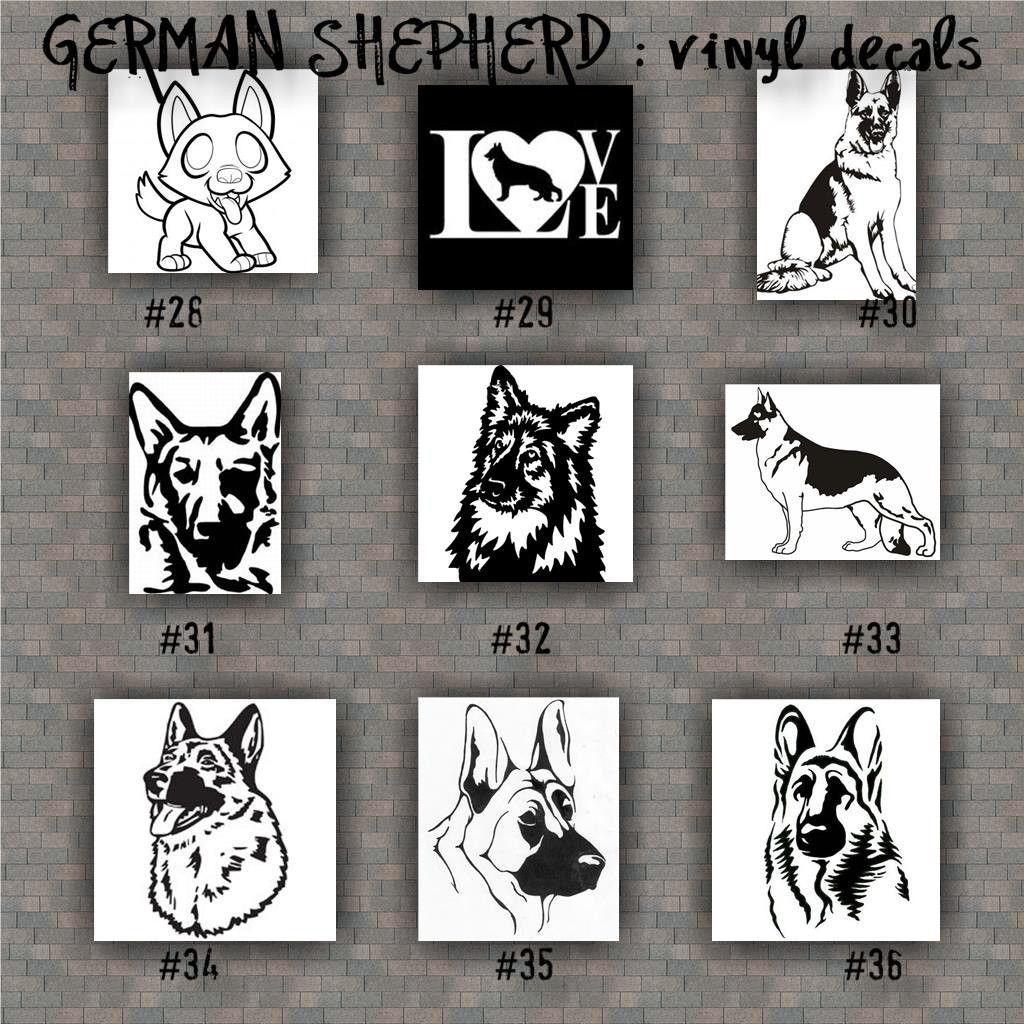 Personalized Vinyl Sticker German Shepherd Car Window Decal laptop wall
