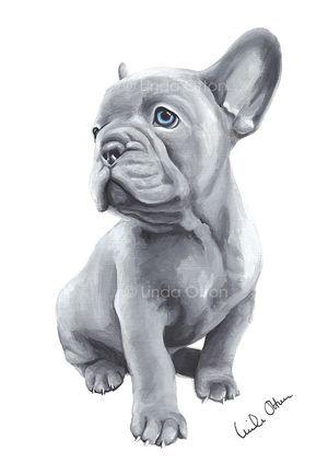 French Bulldog - Print - A4
