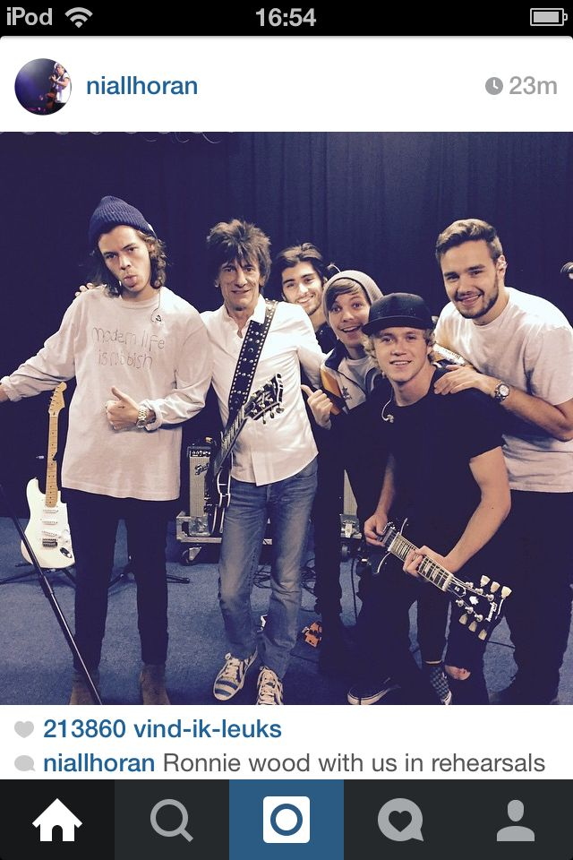 One Direction With Ronnie Wood The Rolling Stones