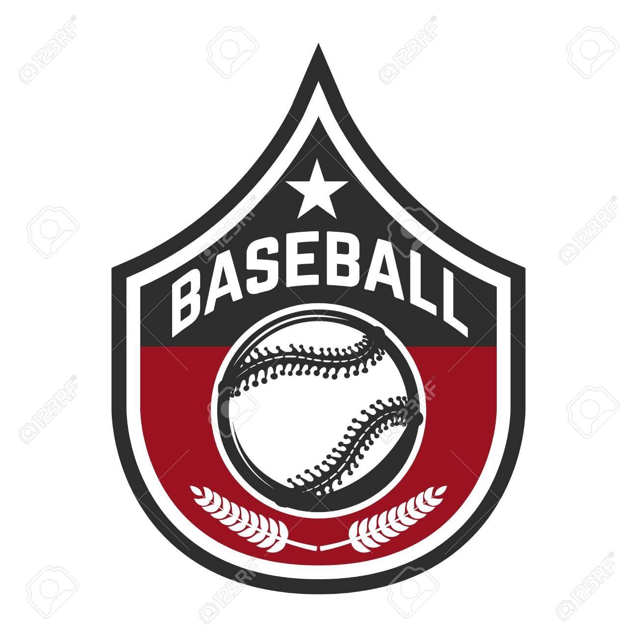 Emblem With Baseball Ball Design Element For Logo Label Emblem Sign Badge Vector Illustration Aff Design Element L Logo Design Symbol Logo Logos