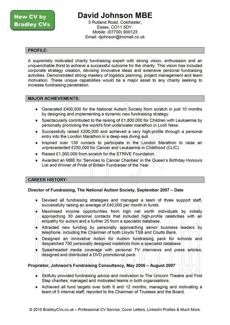 Board Of Director Resume Awesome Good Cv Example Uk Grossartig Beautiful American Profile Personal Statement Examples What To Write On
