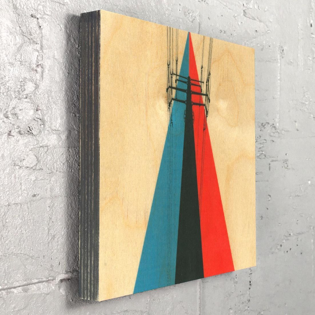 Power lines industrial urban graphic design art wall decor