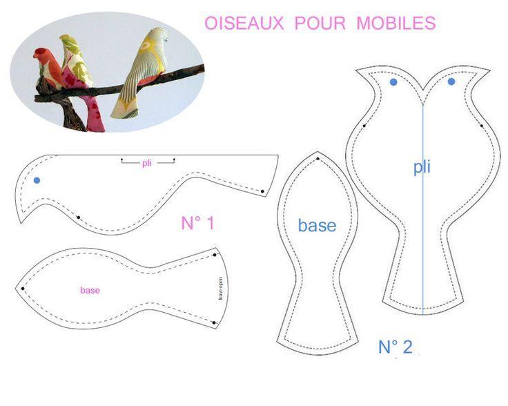 oiseaux_pour_mobiles: | Manualitats | Pinterest | Vogel
