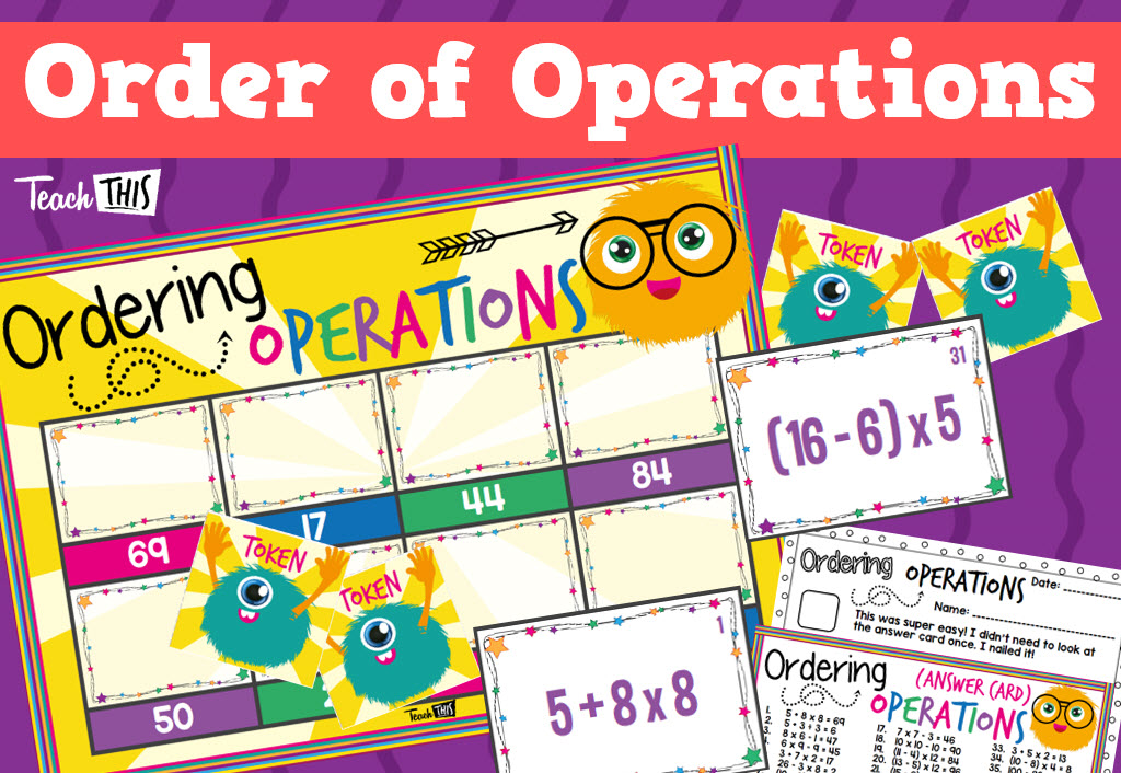 Order of Operations Game - Ordering Operations | Maths