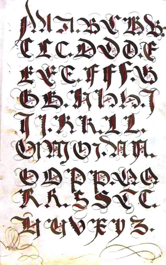 Typography Alphabet Medieval 02 Alphabet Skew