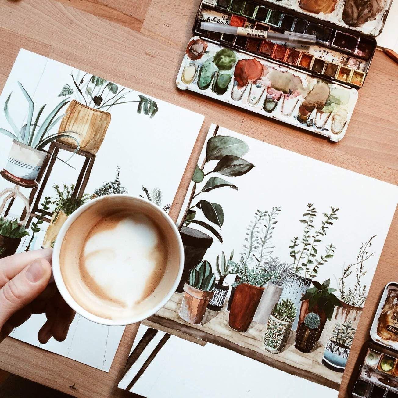 Pflanzen zeichnen in 5 Schritten zum Ziel Zeichnen