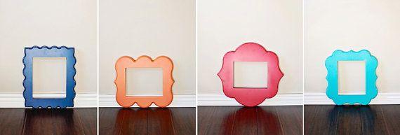 Orange Blossom shaped picture frames