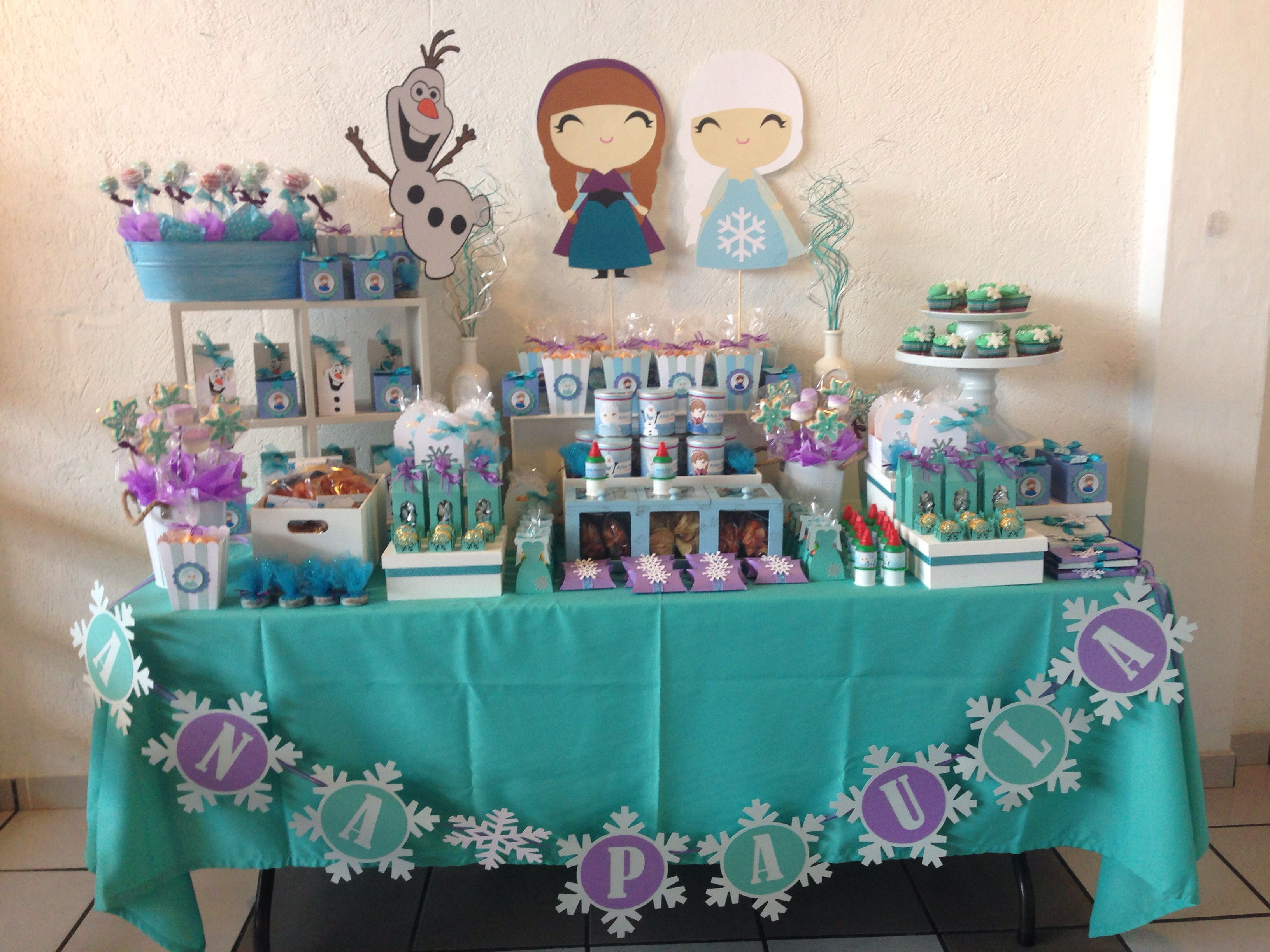 Mesa de dulces frozen ana montoya fiest - Ideas decoracion bar ...