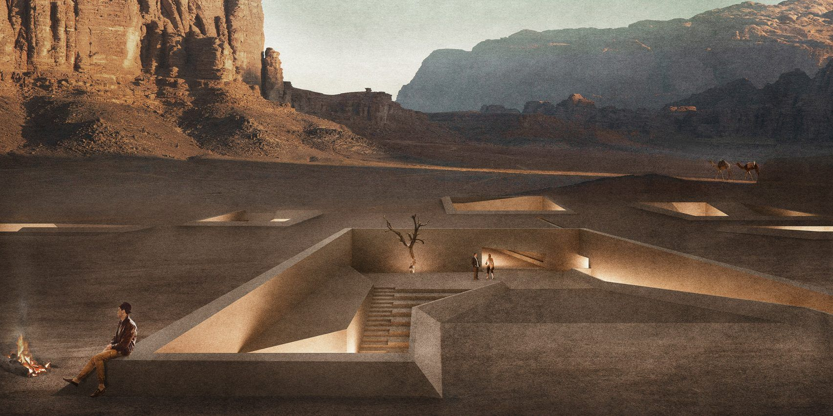 Kamal, an architect and designer at the Basel office of Oppenheim Architecture, drew up plans for the 180,000-square-metre site for his thesis project at the Rice School of Architecture in Texas. #wadirum