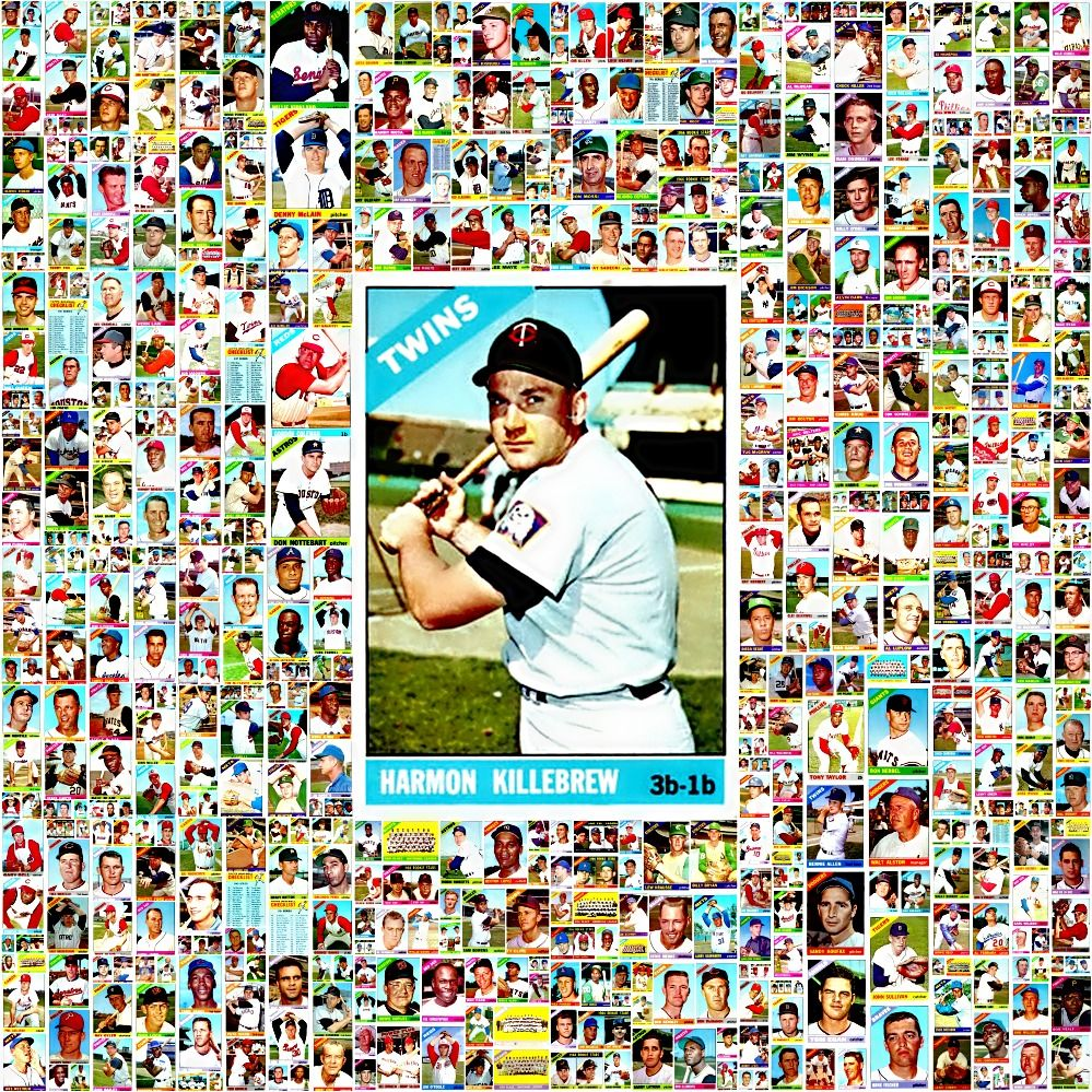 1966 topps baseball cards complete set collage baseball