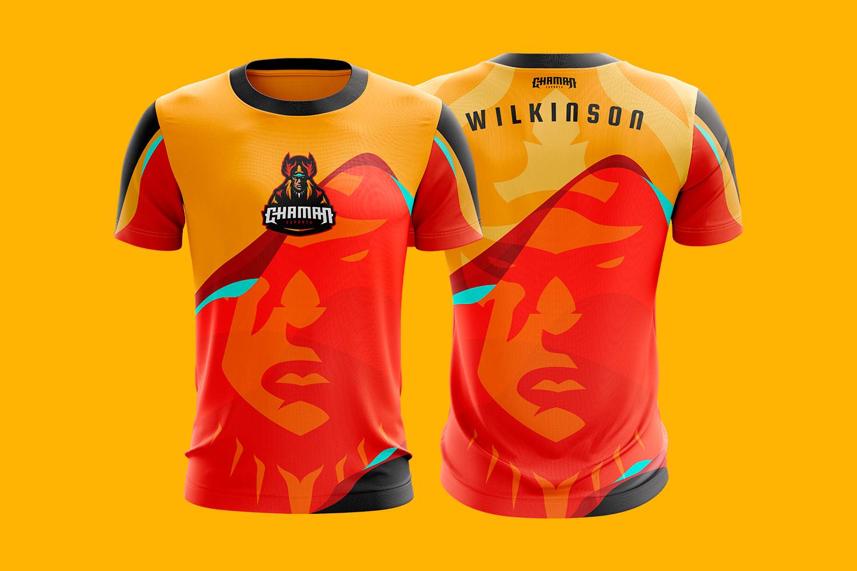 Chaman Esports Concept Mascot Logo Design For Sale Sport Shirt Design Basketball Uniforms Design Jersey Design