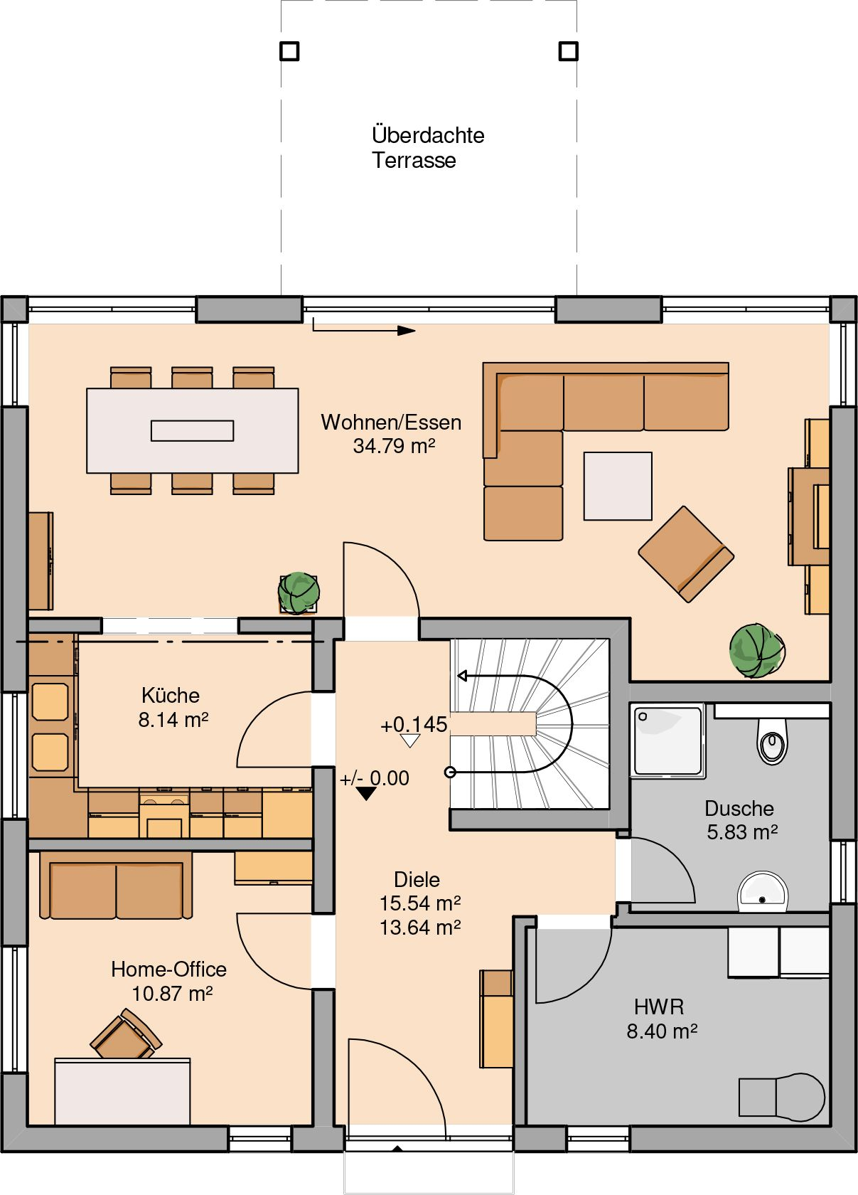 h user stadtvilla centro sinn f r komfort und lebensraum grundriss pinterest house. Black Bedroom Furniture Sets. Home Design Ideas