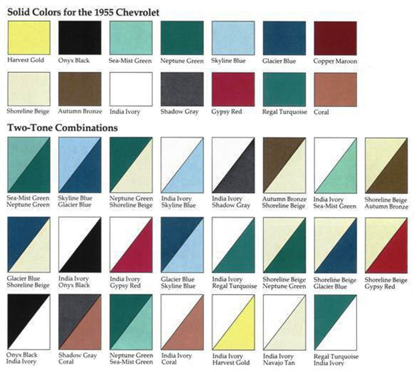 paint color options for 1955 - Paint Color Options
