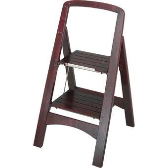 Best Red Oak Removable Rolling Ladder With Rail Kit Kitchen 400 x 300