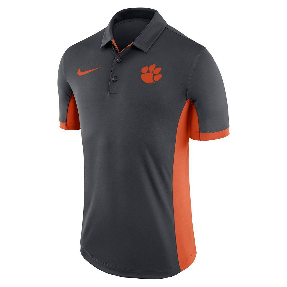 Men's Nike Clemson Tigers Dri-FIT Polo, Size: Small, Black