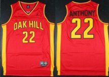 newest 76b87 cb97e Oak Hill #22 Carmelo Anthony High School Red Jersey | cheap ...