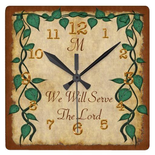 Customizable Monogrammed Vintage Christian Clocks | Short bible ...