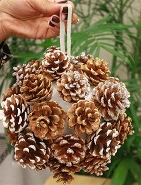 Te mostramos un mont n de ideas de adornos navide os con - Adornos de navidad hechos con pinas ...