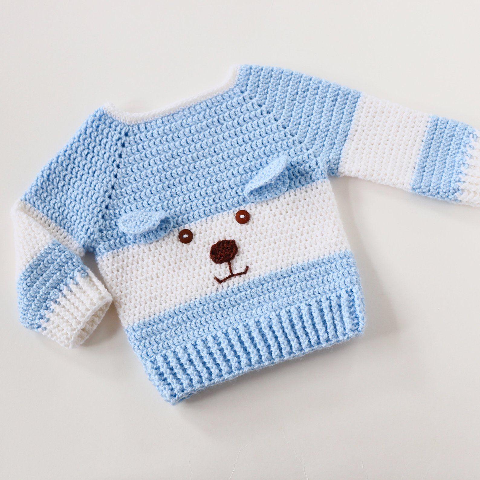 Pull bébé garçon, pull encolure dégagée, Cardigans bébé, cadeau pour bébé garçon, 1er cadeau d'anniversaire pour garçon, chandail, vêtements de bébé de Crochet #crochetbabycardigan