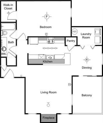 Renaissance Villas Apartment Homes In Las Vegas The Mirabeau 1 Bed 1 Bath 800 Sq Ft House Layout Plans Las Vegas Apartments Building Furniture
