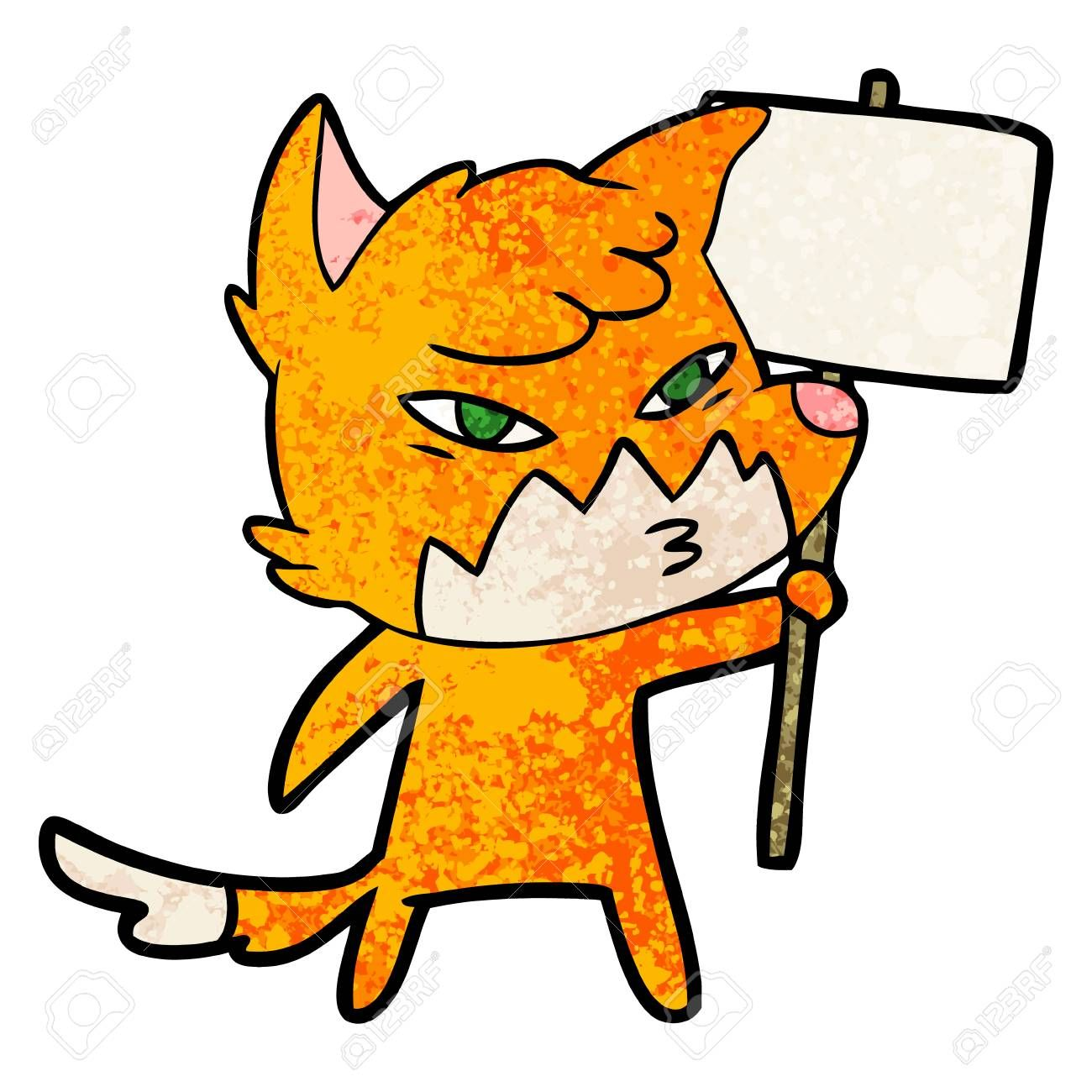 Clever cartoon fox illustration on white background. ,