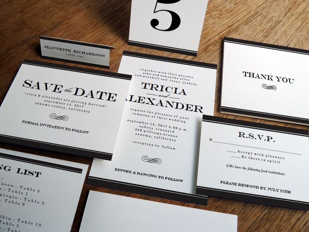 Create This Classic Black And White Wedding Invitation Set In Less Than A Day Download