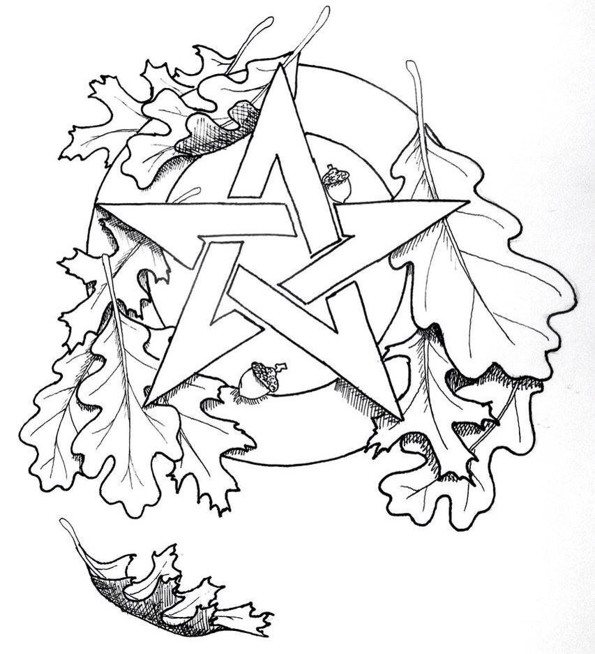 Pin by Захаров Игнатий on line art | Pinterest | Pentacle, Oak ...