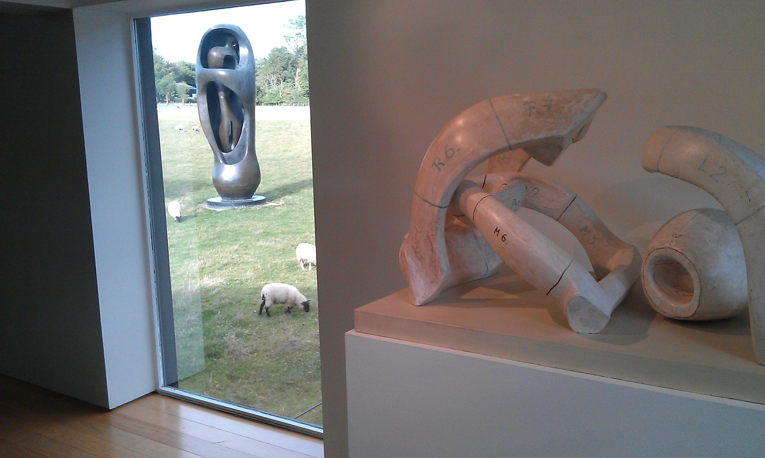 Henry Moore at the Moore Foundation, Hertfordshire