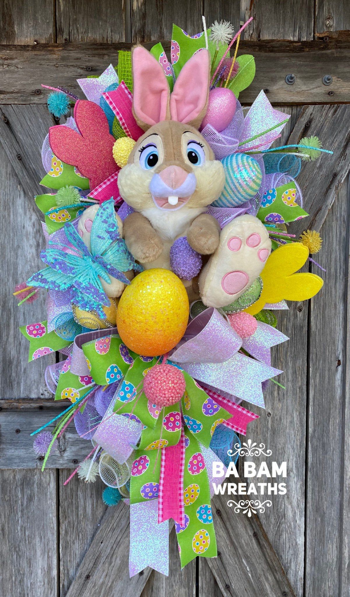 Photo of Easter Wreath, Easter Decor, Spring Wreath, Spring Door, Spring Decor, Bunny Wreath, Bunny Decor