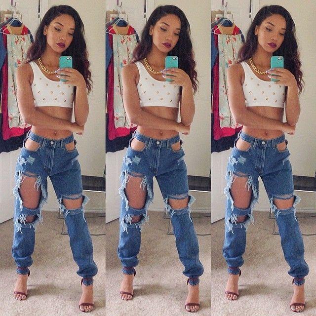 Boyfriend Jeans. DIY Old Jeans. Urban Fashion. Swag. Dope. Hip Hop ...