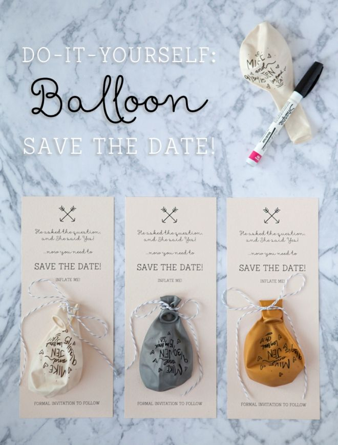 Learn How To Make A Sharpie Balloon Invitation Diy Save The Dates Easy Diy Wedding Invitations Cheap Wedding Invitations