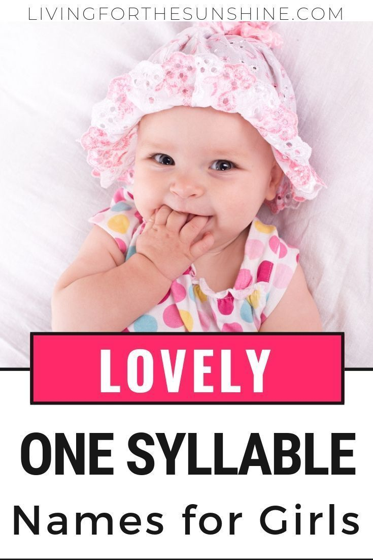75 Pretty One Syllable Girl Names in 2020 | Baby girl ...