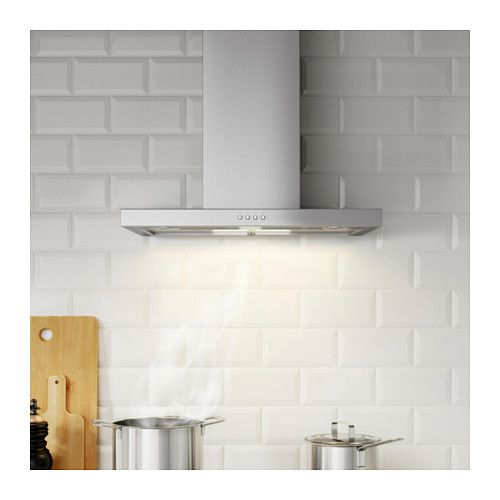 Ikea Paneles Cocina | Ikea Molnigt Wall Mounted Extractor Hood Control Panel Placed At