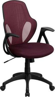 burgundy maroon mesh back computer chair with lumbar support 120 3