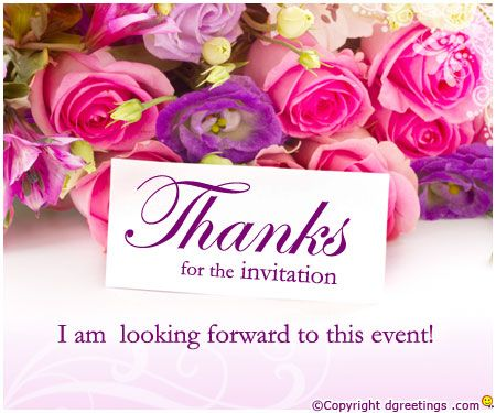 Dgreetings thanks for inviting me thanks cards pinterest thanks for inviting me filmwisefo Images