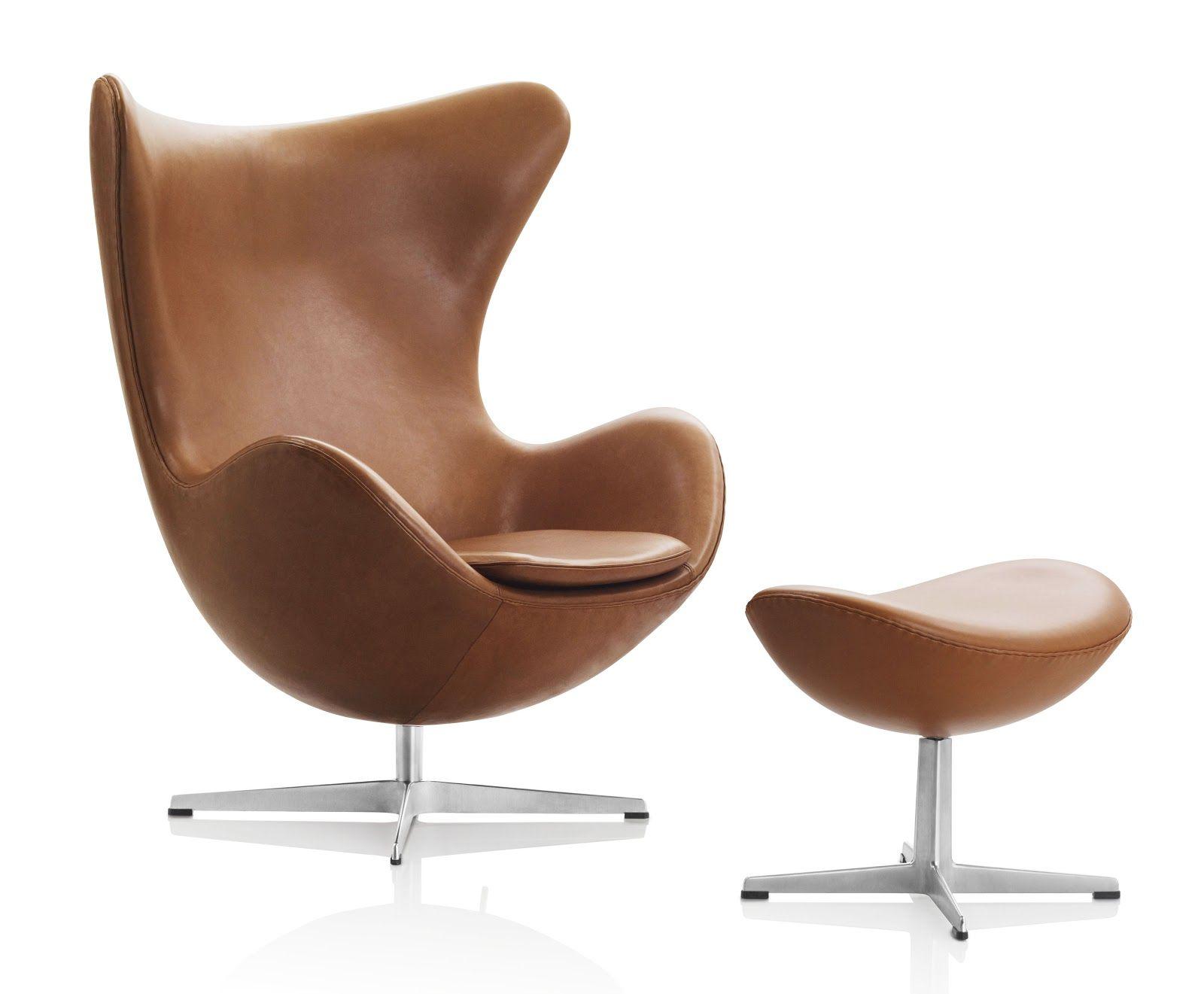 Arne Jacobsen Egg Chair in Walnut Leather   Stardust Modern Design