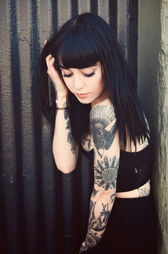 Chicas Tatuadas Modelos Hanna Hannah Pixie Snowdon