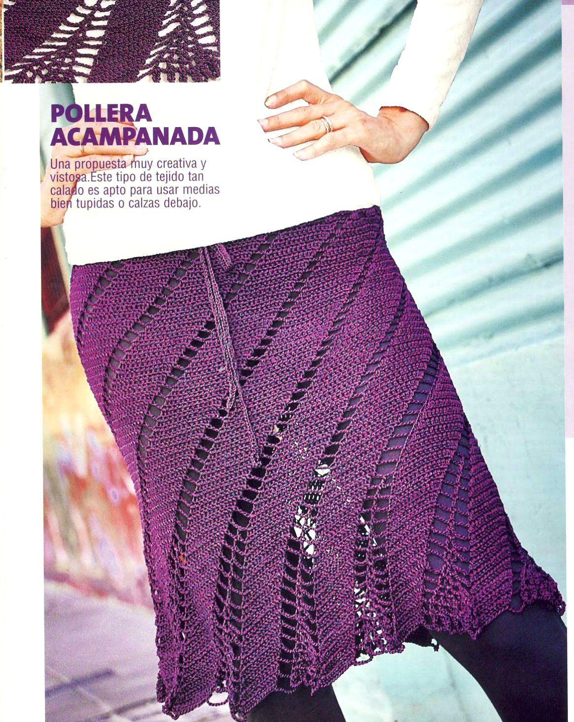 Falda campana calada creativa a ganchillo | Crochet y tejidos varios ...