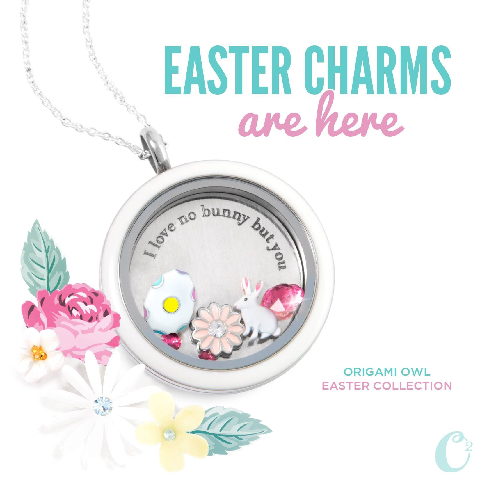 Easter Charms are here for a short time! Add this cute Easter Locket to a little girls basket and watch her face light up! After Easter, change out the charms for a different look! Visit http://www.cmfish.origamiowl.com to put together your locket.  Become a fan of my Facebook page at http://www.facebook.com/OrigamiOwlbyCherylFish. Hurry, these Easter Charms are hopping away with  the bunny!