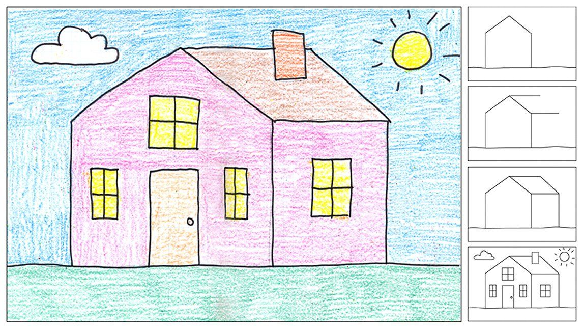 Art projects for kids how to draw a house